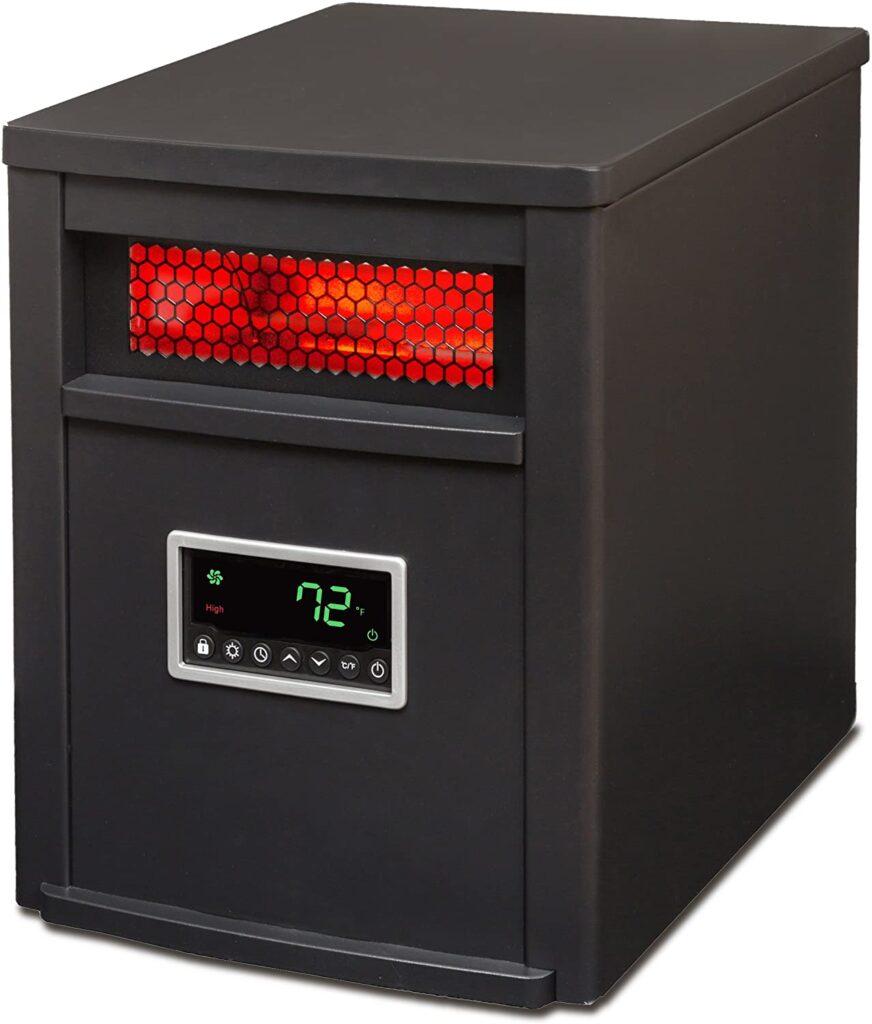 LIFE SMART Black 6 Element Infrared Large Room Heater